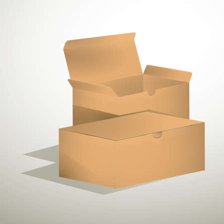 carboard box: cardboard boxes Stock Photo
