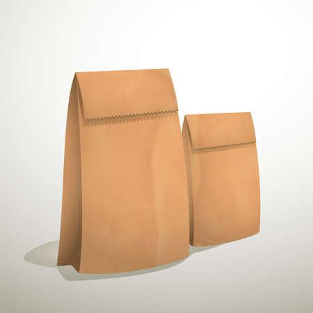 paper bags: brown paper bags Stock Photo