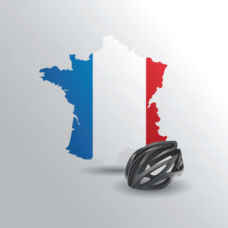 nations: france map with helmet