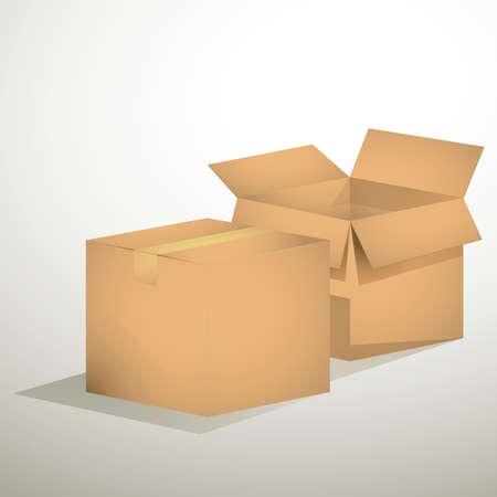 cajas de carton: cajas de cart�n  Vectores