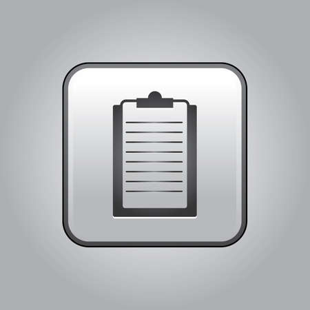ruled paper: clipboard Illustration