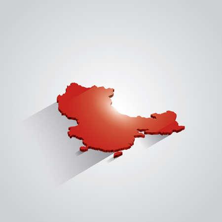 mapa china: Mapa de China Vectores