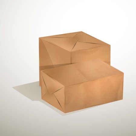 cajas de carton: cajas de cartón  Vectores