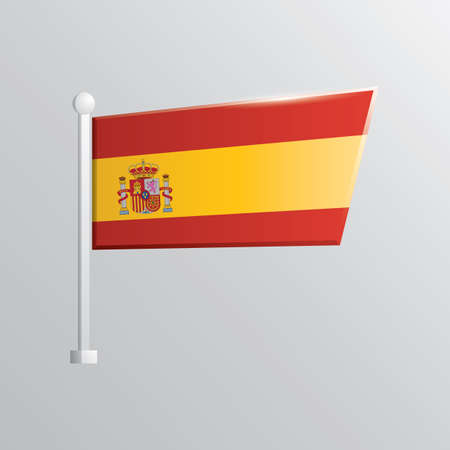 flutter: spain flag Illustration