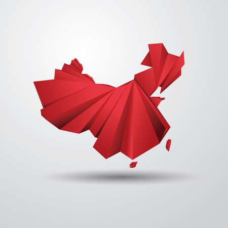 mapa de china: Mapa de China Vectores