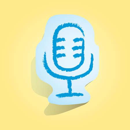 recorder: voice recorder icon Illustration