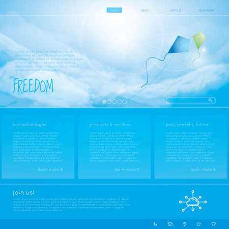 webpages: freedom web page Illustration