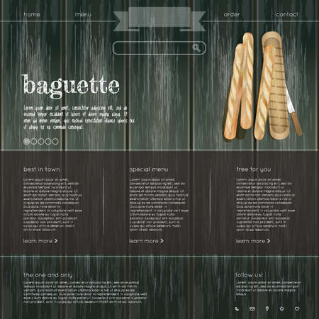 webpages: baguette web site Stock Photo