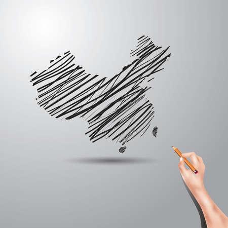 china map: china map Stock Photo