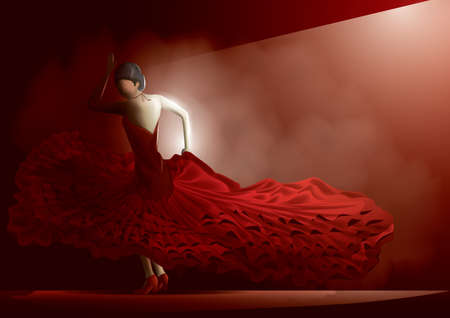 bailando flamenco: Bailaor
