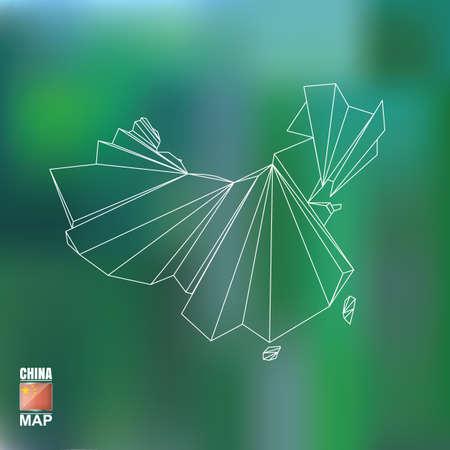 chinese map: Mapa de China Foto de archivo