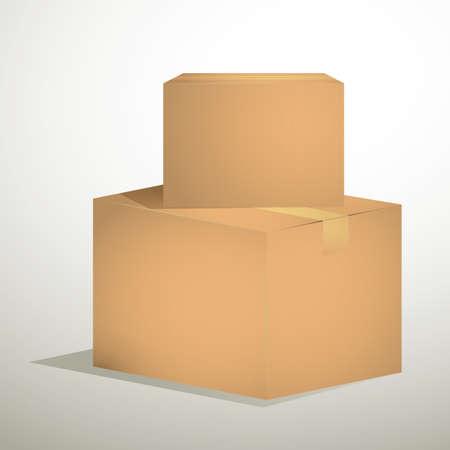 cajas de carton: cajas de cartón  Foto de archivo