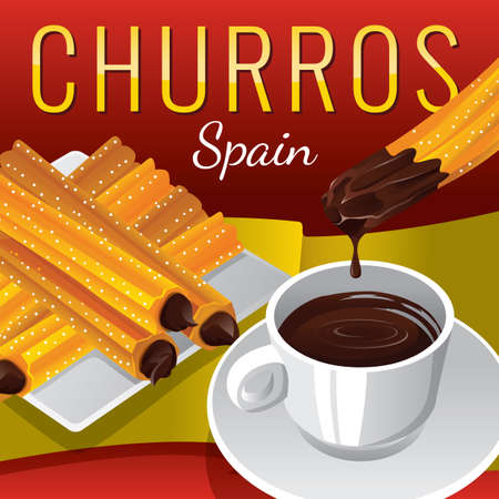 dipping: churros with chocolate dipping sauce