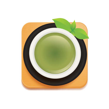 directly above: green tea Illustration