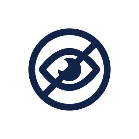 visibility: no visibility icon Illustration