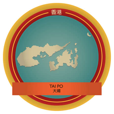 po: tai po map label Illustration