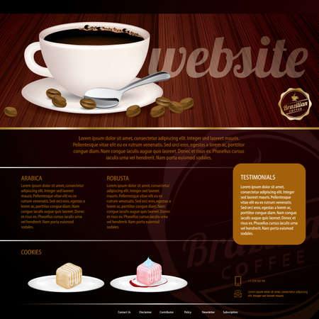 webpages: coffee store website template