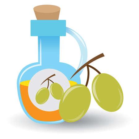 oil bottle: olives with oil bottle
