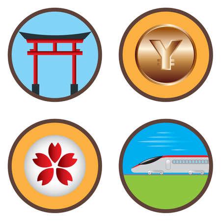 shinkansen: assorted japanese icon selection