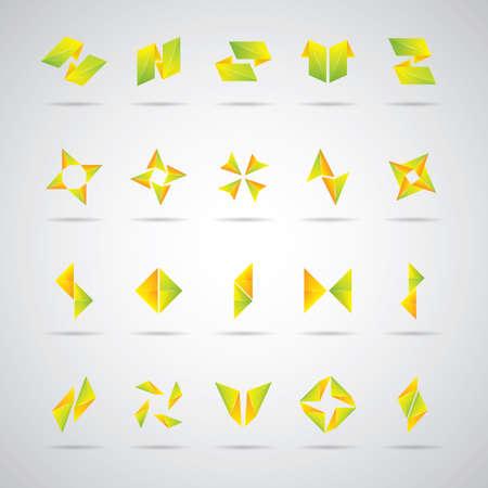 abstract logos: set of abstract logos