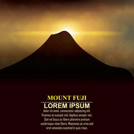 mount fuji: mount fuji silhouette