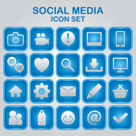 social media icon set Vectores