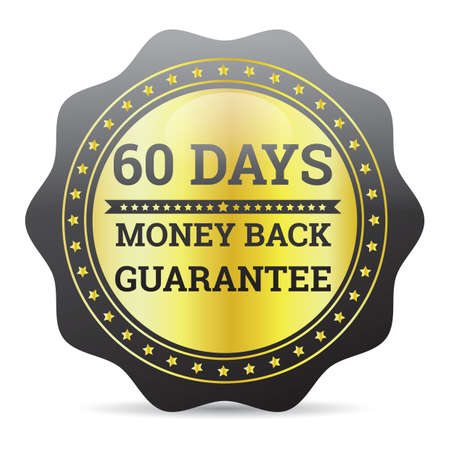 money back: money back guaranteed label
