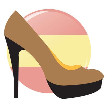 high: high heel shoe Illustration