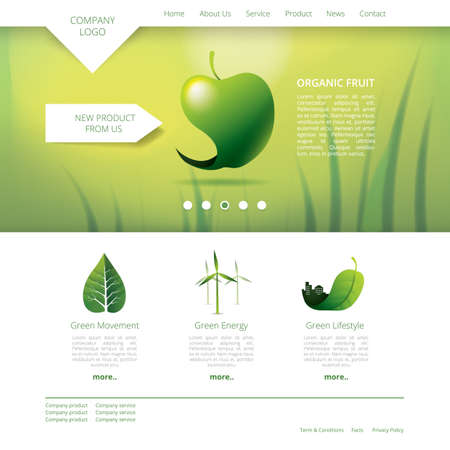 webpages: organic fruit website template