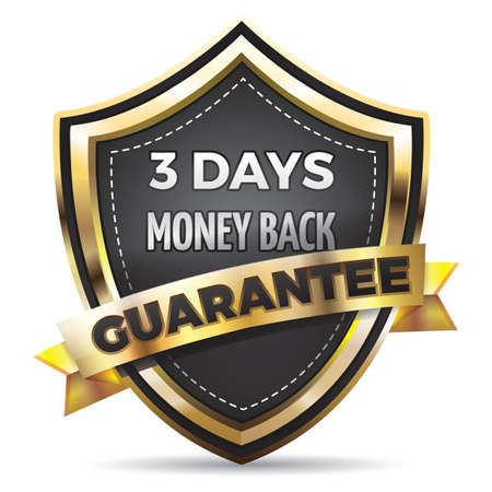 money back: money back guaranteed shield badge