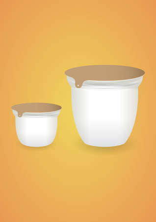 ice pack: blank yogurt cup