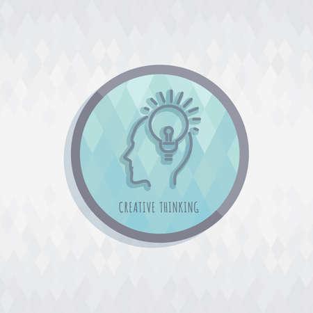 pensamiento creativo: el pensamiento creativo Vectores