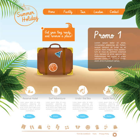 webpages: travel website template