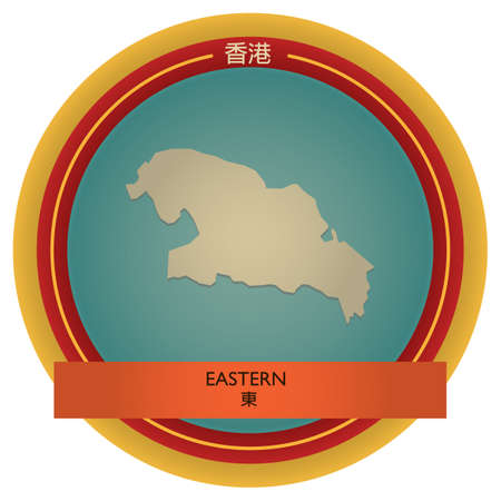 eastern: eastern map label Illustration