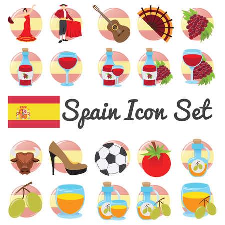 set symbols: spain icon set