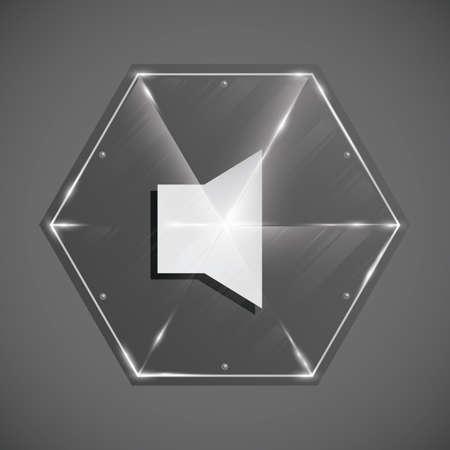 digital volume: speaker icon Illustration