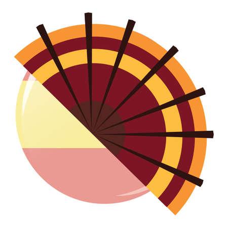 spanish fan: spanish flamenco fan Illustration