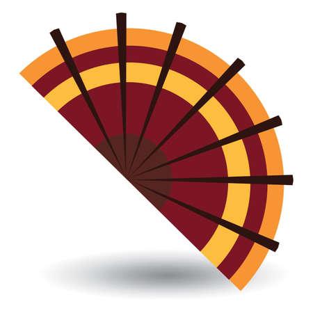 foldable: spanish flamenco fan Illustration