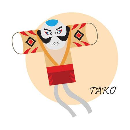 japenese: tako Illustration