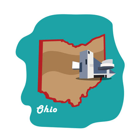 fame: ohio state map with rock and roll hall of fame