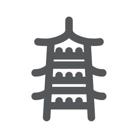 built structure: pagoda Illustration