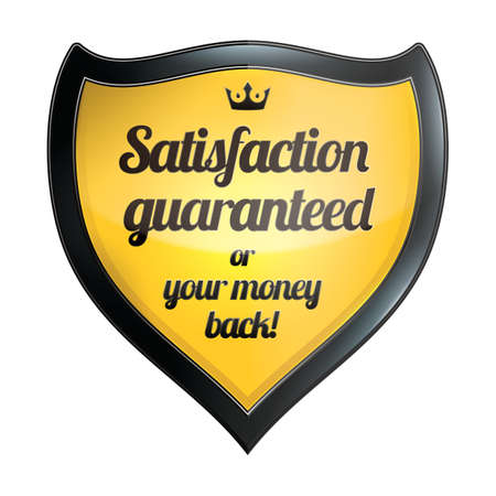 satisfaction guaranteed: satisfaction guaranteed label