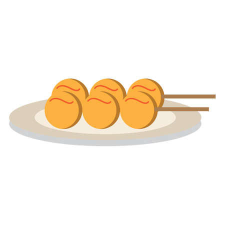 fish ball: fish ball in a plate