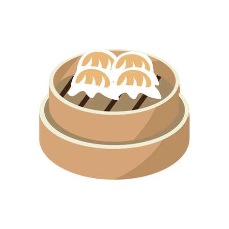 dumpling: scallop shrimp dumpling Illustration