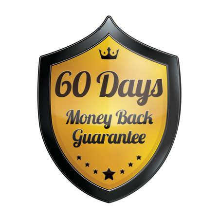 days: 60 days money back guarantee label