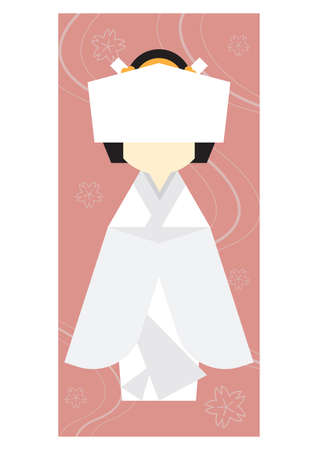 japanese woman: traditional japanese woman Illustration