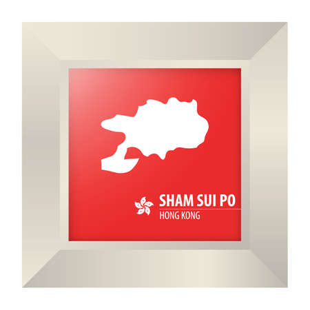 sham: map of sham sui po Illustration