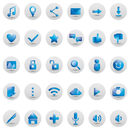 voice recorder: collection of social media icons