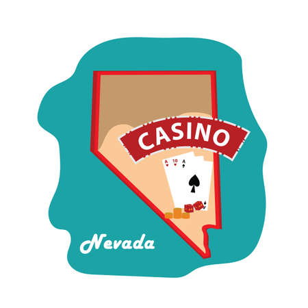 nevada: nevada state map with casino