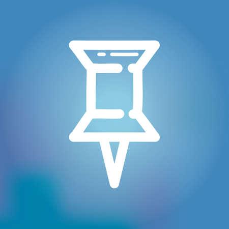 bulletins: thumb pin icon Illustration
